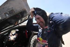 Stephane Peterhansel tijdens de Dakar Rally © AFP
