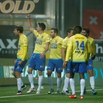 Cambuur speelt gelijk bij RKC Waalwijk. © Hollandse  Hoogte