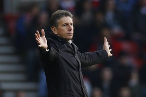 Claude Puel vindt dat zijn ploeg Southampton een te zwaar schema heeft. © Reuters.