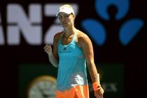 Angelique Kerber bekert simpel verder op de Australian Open. © EPA.